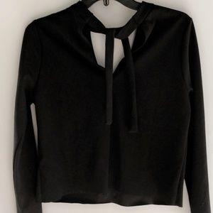 Zara Black V Cut Out New